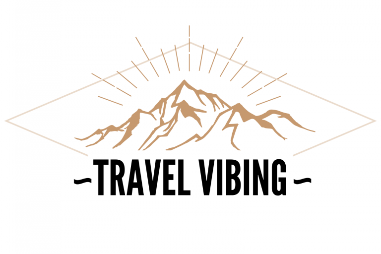 Highlight - Travel Vibing Logo - Mountains and Shimmer